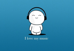 wallpapers melody, earphones, I love music, music, photo