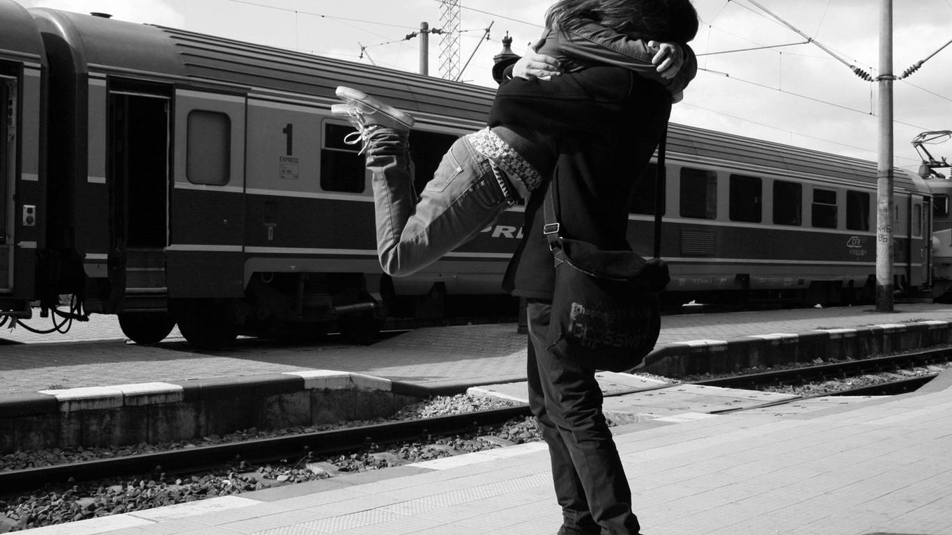 Зустріч закохана пара любов фото