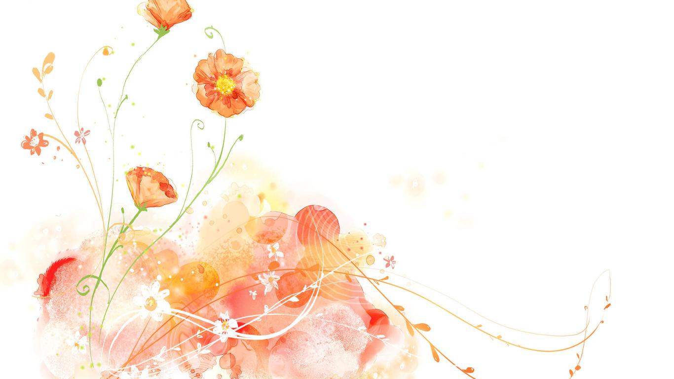Weißer hintergrund zeichnung blumen blumen foto flowers