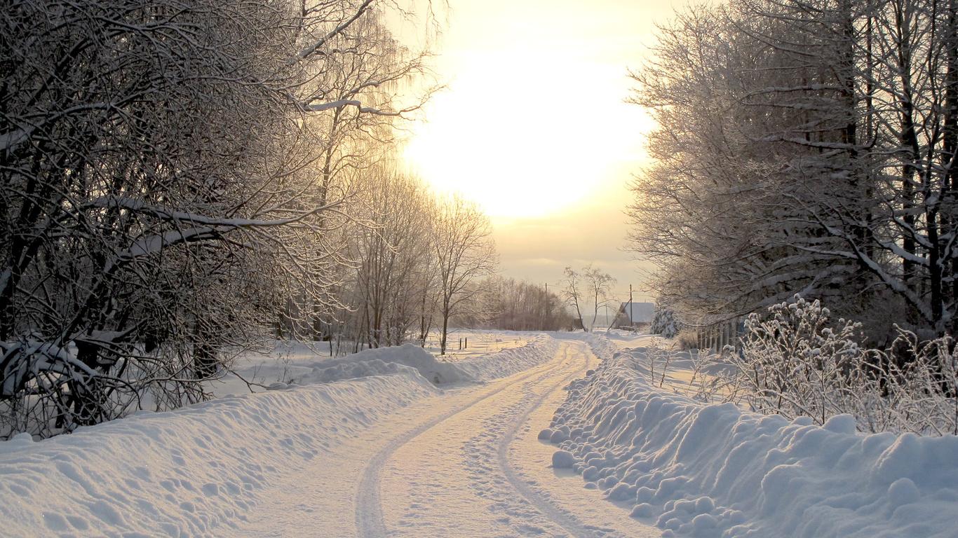 Фото сніг будиночки природа фото