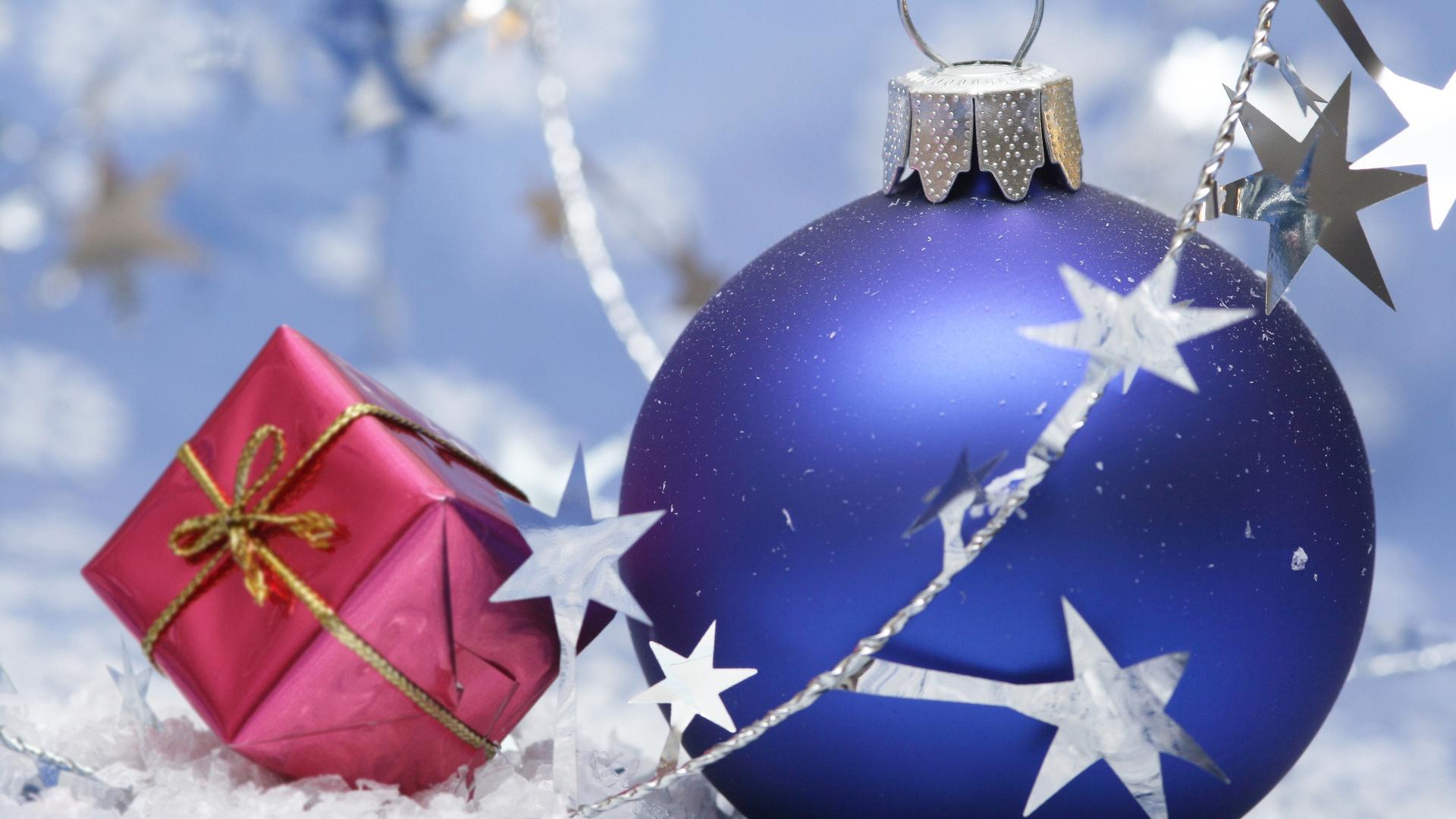 Hd шпалери кулі новий рік різдво